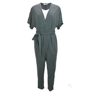 Halston Heritage Womens Velour Jumpsuit M New